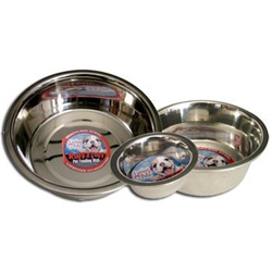 "1 Pint ""Ruff-N-Tuff"" Stainless Steel Mirrored Bowls"
