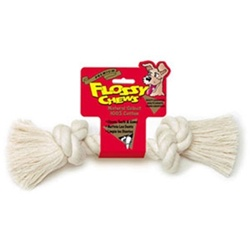 Mammoth Pet White Rope Bone-Large 14""