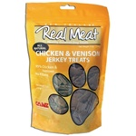 Real Meat Company Chicken and Venison Treats for Dogs 12/12oz Bags