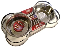 Santa Fe Wrought Iron Bone Shaped Double Diner - 1 Pint