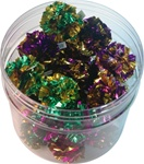 "1.5"" Mylar Ball Cat Toys.  60 Per Canister."